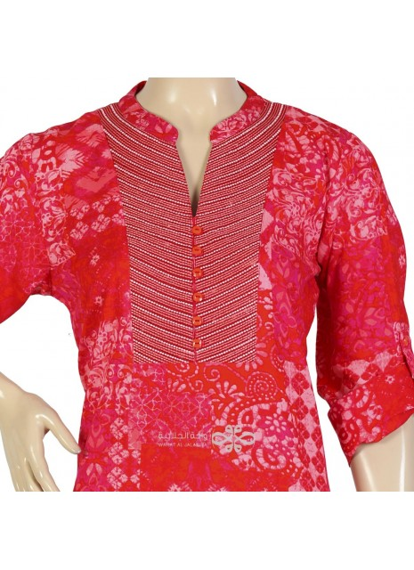 """Pink Jasper"" Moroccan kaftan with embroidery (NM-1082)"