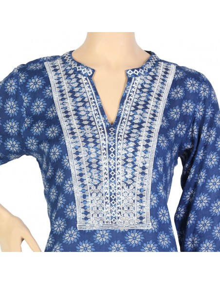 """""""Brandy Love"""" Shantung kaftan with embroidery and beads (N-14370-6)"""
