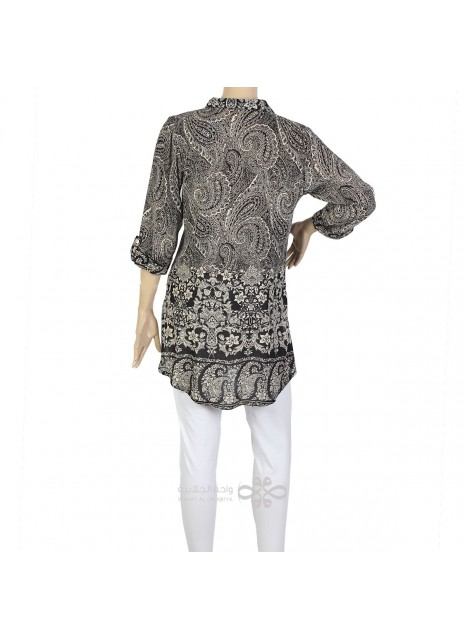 """""""Lady Rose"""" Cotton patterned jilbab with printed roses (N-14618-11)"""
