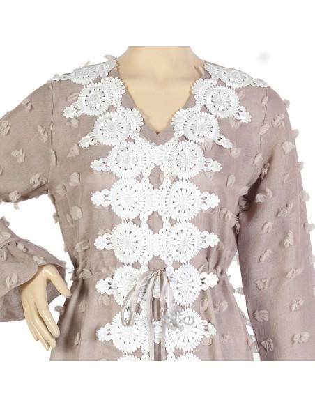 """Sweet Desire"" Chiffon jilbab embroidered with beads and crystal rhinestones (N-15265-21)"