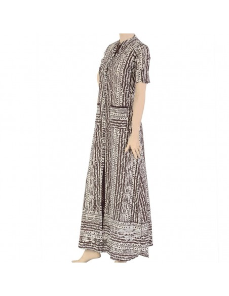 """BWB kaftan"" Cotton patterned kaftan with embroidery (N-13251-10)"