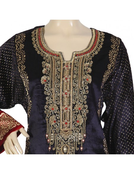 Classic khaleeji abaya with scarf (WE-100-1)