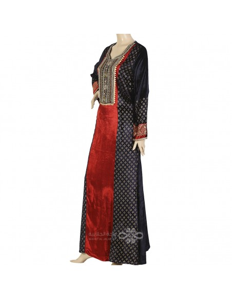 Classic khaleeji abaya with scarf (WE-102-1)