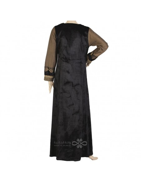 Classic khaleeji abaya with scarf (WE-106-1)
