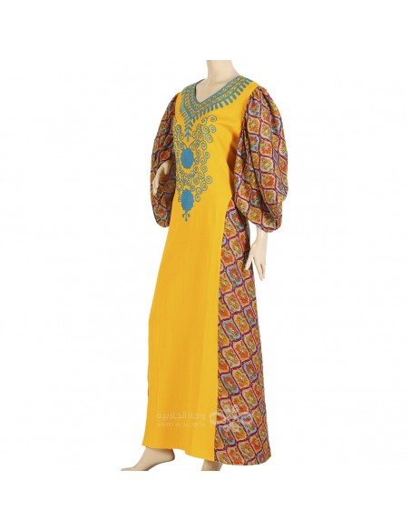 """""""Sugar your Day"""" Chiffon fabric butterfly shaped kaftan with handmade embroidery (N-15196-6)"""