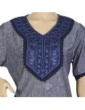 """Chic kaftan"" Butterfly chiffon kaftan with embroidery and belt (WN-956-20)"