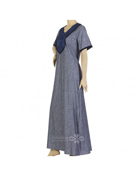 """Timeless Style"" Cotton fabric kaftan in a bedouin style with a beautiful belt (WN-957-2)"