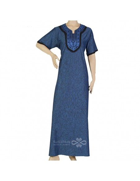 """My Definition of Beauty"" Chiffon kaftan with handmade embroidery on the chest (N-15188-4)"