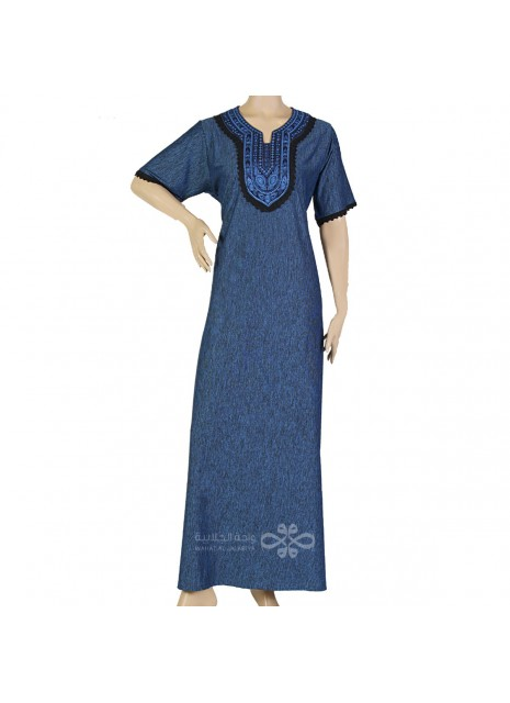 """""""My Definition of Beauty"""" Chiffon kaftan with handmade embroidery on the chest (N-15188-4)"""