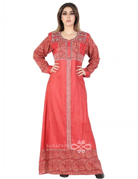 """Fascinating Allure"" Brasso and chiffon kaftan with printed letters (NM-1175)"