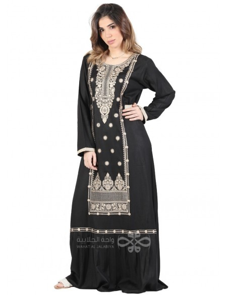 """My Favorite Diamond"" An elegant kaftan with an amazing chiffon fabric and a belt (WN-967-4)"
