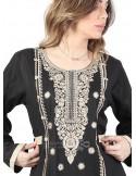 """My Favorite Diamond"" An elegant kaftan with an amazing chiffon fabric and a belt (WN-967-4)"