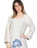 """Unique Style"" Elegant cotton jilbab with embroidery on the chest (N-15925-8)"