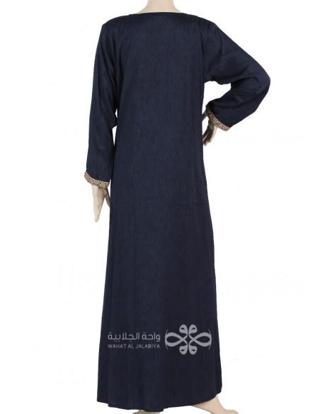 """La Reine"" Elegant chiffon fabric jilbab with a belt (WN-1031-15)"
