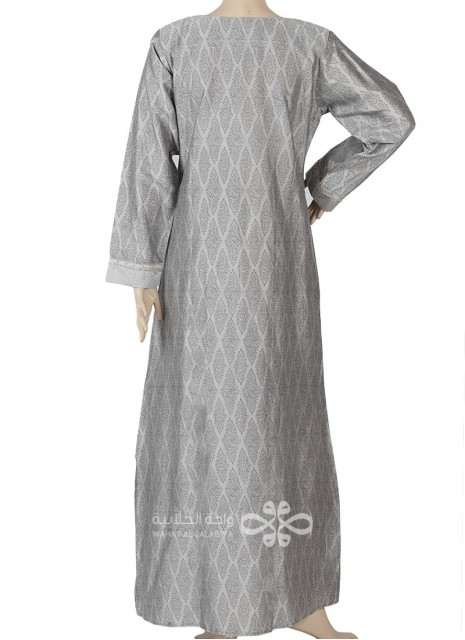 """""""Charming Breeze"""" Comfortable printed cotton jilbab with emroidery on the chest (N-15900-1)"""