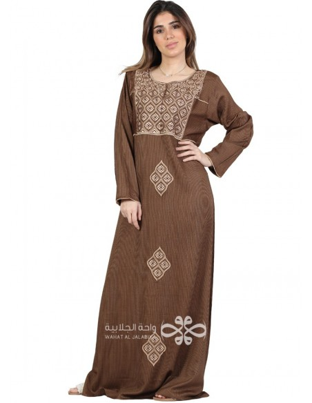 Feel Alive Luxurious chiffon fabric jilbab with belt and necklace WN-1046-11