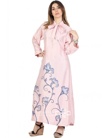 Be Yourself Wonderful cotton jilbab with embroidery N-16160-13