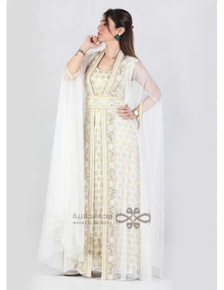 """""""Moroccan Touch"""" Amazing black and beige jilbab with beautiful embroidery (N-16821-09)"""