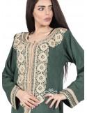 """""""Simple but Amazing"""" White chiffon jilbab with prints and beautiful lace (WN-1074-9)"""