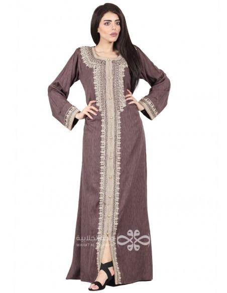 """""""Like a Breeze"""" Wonderful blue fabric jilbab with embroidery (WN-1104-11)"""