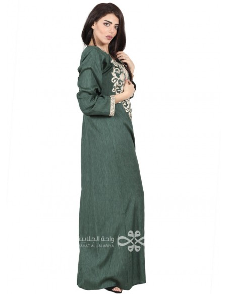 """""""Modern Beauty"""" Colorful jilbab with touches of a golden embroidery (WN-1117-04)"""