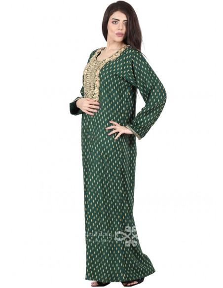 """""""Elegance Code"""" Elegant white lint jilbab with black embroidery (N-16310-01)"""