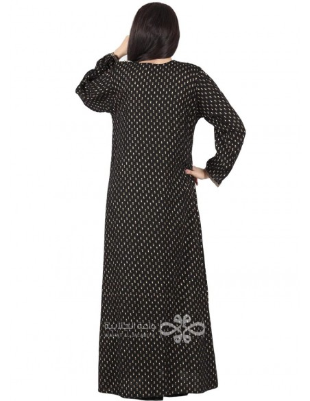 """Enchanting Music"" Cute jilbab with embroidery on the chest (N-16311-20)"